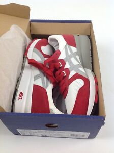 ASICS GEL-EPIRUS WHITE/LIGHT GREY/RED UK 8