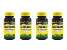 4 X 60 = 240 capsules EXTRACT 500 mg Echinacea ROOT100 % PURE NATURAL DEFENSE