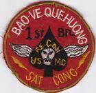 USMC 1st Battalion Recon Sat Cong Bao Ve Que Huong Vietnam Patch #7