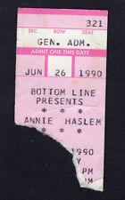 1990 Annie Haslem from Renaissance concert ticket stub Bottom Line