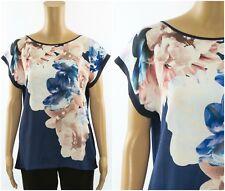 ex Coast Top - Coast Floral Print Cap Sleeve Relaxed Fit Top