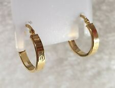 Genuine 18k Solid Gold Round Hoop Earrings