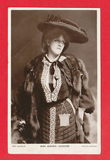 EDWARDIAN  POSTCARD  -  ACTRESS  -  MISS  QUEENIE  LEIGHTON  -  1905