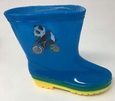 Boys Toddler Rubber Rain Boots Panda Bear Comfortable Durable Size 8.5