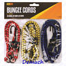New 6 BUNGEE CORD SET WITH HOOKS Elasticated Straps Rope Cords Car Bike Luggage