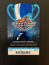 95th 2007 Grey Cup Used Ticket. In Excellent Condition. Riders Beat Bombers.