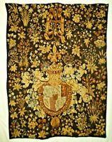 "Point de L' halluin 49"" x 37"" Vintage French Tapestry 37002 Excellent Condition"