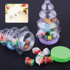2x Bottles Eraser Santa Christmas Tree Snowflake Christmas Advent Calendar Gift