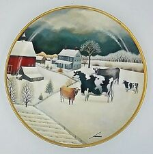 Cows In Winter Franklin Mint American Folk Art Collection Series 1992 P205