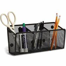 Magnetic Mesh Pen Holder Desk Organizer Basket with 3 Compartments 10.5