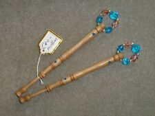 LACEMAKING LACE BOBBINS PAIR CEONOTHUS WOOD