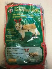 Plush Puppies Deluxe Dog Reindeer Suit Large New