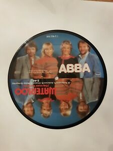 """ABBA Waterloo  7"""" PICTURE DISC VINYL  GERMAN & FRENCH VERSION"""