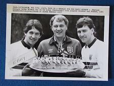 "Original Press Photo - 10""x7"" - Bobby Robson 54th Birthday-Lineker & Robson-1987"