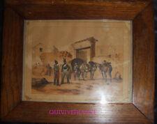 lithogravure ARTILLEURS DU TRAIN par VICTOR ADAM 1832