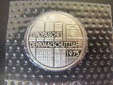 """5 Deutsche Mark aus 1975 """"F""""  EUROPÄISCHES DENKMALSCHUTZJAHR  SONDERMÜNZE"""