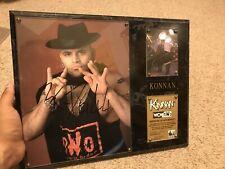 Konnan WCW WWE Frame Plaque Rare Wrestlemania ECW Figures Toy Co Wrestler Legend