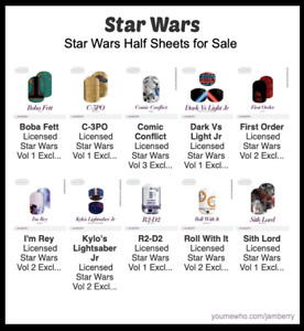 Rise of Skywalker Jamberry Star Wars Nail Wraps - Half Sheets