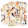 100Pcs Skateboard Stickers Retro Sexy Girl Graffiti For Laptop Luggage Decals
