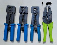 New ListingLot of 4~ SullStar Ez-Rj Pro-Hd, Greenlee, and 2 Other Crimp Tools-Rj45 Crimpers