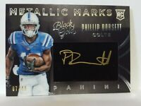 2015 Panini Black Gold Metallic Marks White /49 Phillip Dorsett Rookie Auto Colt