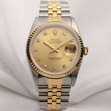 Rolex DateJust 16233 Steel & Gold Diamond Dial