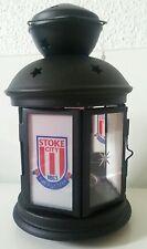 Stoke City black Lantern..  Glass / metal / mirror .
