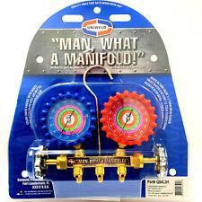 Uniweld Qs4l3h Brass Manifold 2 V Set With 3ft Magic Hoses R22 R404a R410a