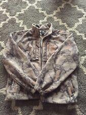 Natural Gear Mens Brown Camo Fleece Full Zip Hunting Jacket Size Medium