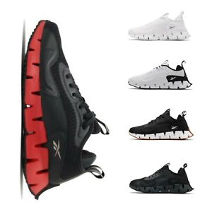 Reebok Zig Dynamica Black White Men Running Jogging Casual Lifestyle Shoe Pick 1
