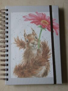 Gorgeous WRENDALE A5 Spiral Notebook 'FLOWERS COME AFTER RAIN' - SQUIRREL - NEW