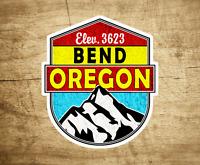"Ski Bend Oregon Decal Sticker  3"" x 3.4"" Skiing Snowboarding"