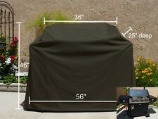 "BBQ Grill Cover Fit Broil-Mate Reddi-Bilt 2-Burner Propane Gas Grill, 56"", Black"