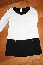 NWT Gymboree Posh and Playful Size 5T Black and White Colorblock Ponte Dress
