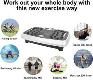 Vibration Plate Machine , Whole Body Fitness Platform W/ Music Vibration Machine