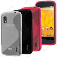 Housse Etui Coque Silicone Motif S-line Gel Souple LG Nexus 4 E960