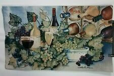 Mohawk Home Wall Hanging Tapestry Wine & Grapes 45 X 27 inches Earth Tones D000