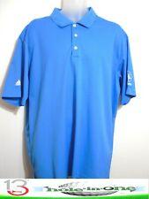 Adidas ClimaLite Men's Golf Shirt Short Sleeve Size 2Xlarge Blue Nice Polyester