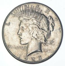 Early - 1923-S - Peace Silver Dollar - 90% US Coin *596