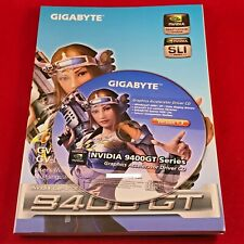 GENUINE NVIDIA GE FORCE SERIES 9400GT Graphics Accelerator Driver and Manual!