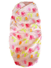 "NEW GIRL JUST CUTE""Soft warm Flannel Pink Elephant SWADDLE size 3-6mths"