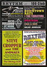 Steve Cropper Boomtown Conseil Dr Feelgood | Flyer concert Londres 100 Club