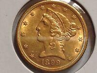 5 Dollar 1899 S USA Gold (#D77#)