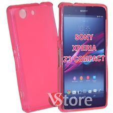 Cubierta De La Caja Para Sony Xperia Z3 Compacto Mini D5803 Fucsia Silicone+