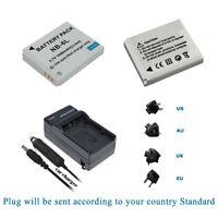 2 Battery + Charger NB-6L for Canon PowerShot SX260 HS, SX270 HS, SX280 HS