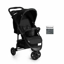 New Hauck Citi Neo II 3 wheeler pushchair buggy+raincover in Caviar stone black
