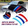 Plastica Auto Anteriore Rene Griglia Barra Cover Righe Clip per BMW E46 3 Serie