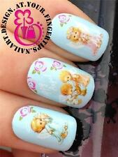 NAIL ART WATER TRANSFERS DECALS STICKERS CUTE PUPPY & CHERUB ANGELS PLAYING #239