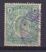 DB176) East Africa and Uganda, 1907 1 Rupee Green, SG 26