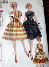 LOVELY VTG 1960s DRESS Sewing Pattern 12/32